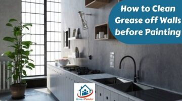 how to clean grease off walls before painting