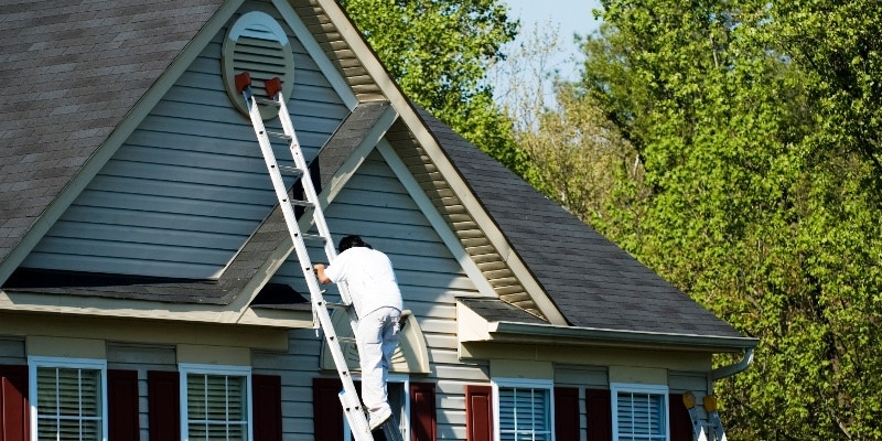 How to Paint Dormers on a Steep Roof