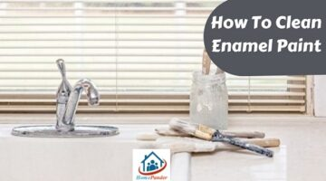How to clean enamel paint