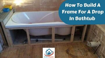 how to build a frame for a drop in bathtub