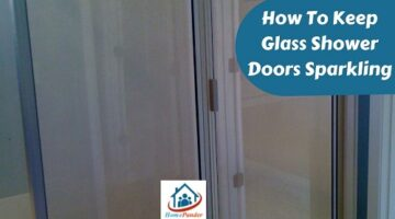 how to keep glass shower doors sparkling