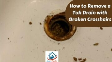 how to remove a tub drain with broken crosshairs
