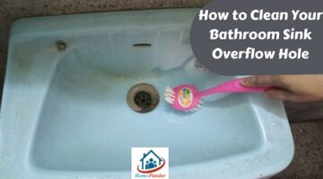 how to clean your bathroom sink overflow hole
